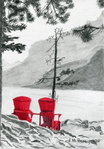 Red Chairs Lake Minnewanka